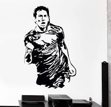 Wall Vinyl Decal Lionel Messi Soccer Football Fc Barcelona Decor Uniqu Wallstickers4you