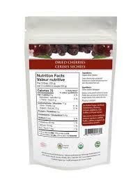 organic traditions dried cherries 100g