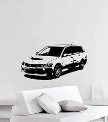 Mitsubishi Logo Wall Decal Luxury Sport New Car Decor Art Mural Vinyl Sticker Home Garden Decor Decals Stickers Vinyl Art