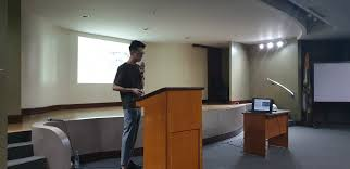 """UST Arki Student Council on Twitter: """"Second speaker, from the National  University of Singapore, Mr. Adrian Au, shares with the UST College of  Architecture his thesis about Intensifying High Density Cities. #PINT19 #"""