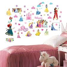 Disney Princesses Wall Stickers For Bedr Buy Online In Antigua And Barbuda At Desertcart