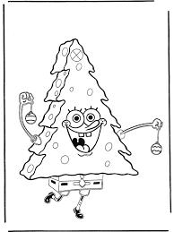 Spongebob Als Kerstboom Spongebob Kleurplaten