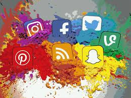 Social Media Icons Color Splash Montage - Landscape | Flickr