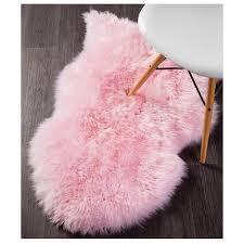 network light pink sheepskin rug
