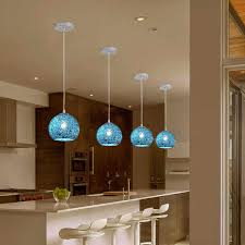 kitchen island ceiling lamp modern blue