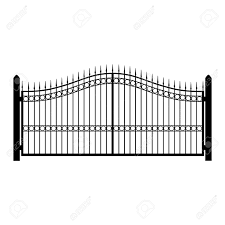 Raster Illustration Wrought Iron Fence Old Metal Fence Or Gate Stock Photo Picture And Royalty Free Image Image 77134686