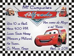 Invitaciones De Cumpleanos De Cars Para Descargar Al Celular 1 En