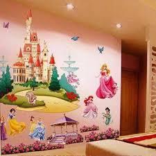 Disney Castle Glitter Wall Decal Cinderella Princess Bedroom Sticker Wallpaper For Sale Online Ebay