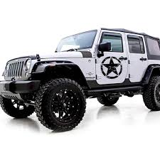 For Jeep Front Hood Sticker Black White Yellow Army Military Star Xotic Tech