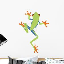 Red Eyed Tree Frog Cartoon Wall Decal Wallmonkeys Com