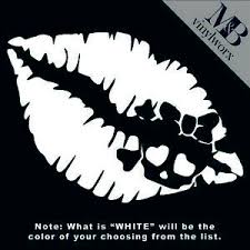 Girly Skull Lips Punk Multiple Colors Car Decal Sticker Ebay