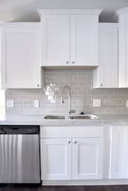glass subway tile kitchen cabinets