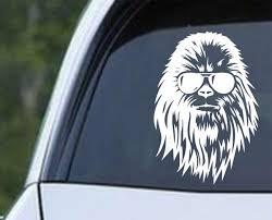 Star Wars Chewbacca With Sunglasses Die Cut Vinyl Decal Sticker Decals City
