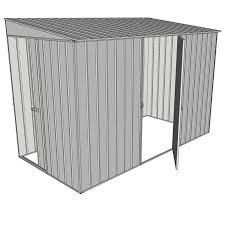 single hinged side door skillion shed
