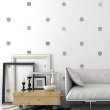 30 Silver Or Gold Metallic 4 Inch Polka Dot Vinyl Wall Decals