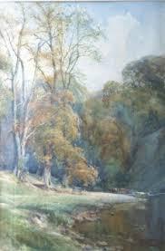 Watercolour   Arthur Reginald Smith   A Bend on the Wharfe, Nr ...