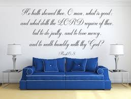 Micah 6 8 Vinyl Wall Scripture Decal Sticker Bible Wall Decal Chri Inspirational Wall Signs