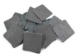iron on grey square faux leather patch 40mm
