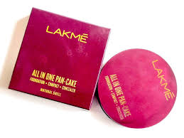 lakme all in one pan cake review swatches