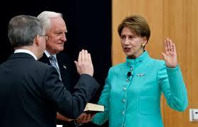 Barrett publicly sworn in as secretary ...
