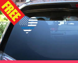 Buy 3 Get 1 Free Thin Blue Line Car Decal American Flag Etsy