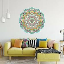 Mandala Wall Decal 10 Mandala Wall Sticker Removable Yoga Bedroom Office Decor Ebay