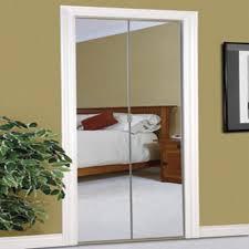 beveled frameless mirrored bi fold door