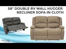 58 double rv wall hugger recliner sofa