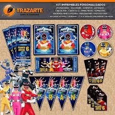Trazarte Kit Imprimible Power Rangers In Space En El Facebook