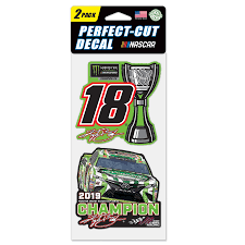 Wincraft Kyle Busch 2019 Monster Energy Nascar Cup Series Champion 2 Pack Perfect Cut Decal Set