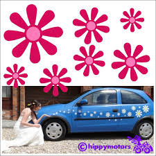 Daisy Flower Decals Made From Long Lasting Colourfast Vinyl In The Uk