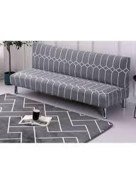 تسوق وغطاء أريكة واق مزين بطبعة أشكال هندسية رمادي أبيض One