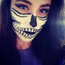 half sugar skull makeup tutorial