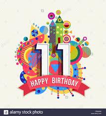 Feliz Cumpleanos 11 De 11 Anos Divertida Celebracion Con El