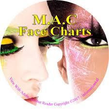 1700 mac makeup face charts cosmetics