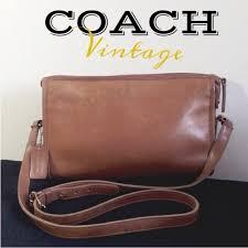 caramel brown leather shoulder bag