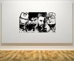 Marvel Avengers Retro Iron Man Hulk Thor Captain America Wall Decal Wall Sticker Ebay