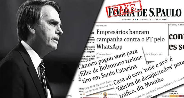 """Resultado de imagem para BOLSONARO E FOLHA"""""""
