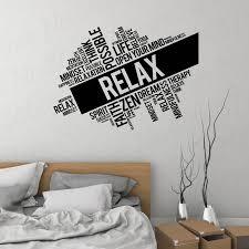 Relax Vinyl Wall Decal Words Cloud Zen Meditation Room Spa Massage Stickers Mural Wl892 Wall Stickers Aliexpress