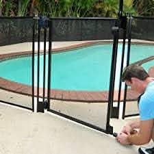 Amazon Com Pool Fence Diy By Life Saver Self Closing Gate Kit Black Garden Outdoor