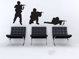 Buy Military Soldier Wall Sticker Soldier Wall Decal Diy Decorating Modern Vinyl Wall Art Removable Wall Decoration In Cheap Price On Alibaba Com