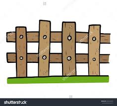 Wooden Fence Cartoon Vector And Illustration Hand Drawn Style Isolated On White Background Wooden Fence Cartoons Vector Wooden