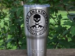 Custom Second Amendment Vinyl Decal For Stainless Tumblers Coffee Travel Cups Ebay