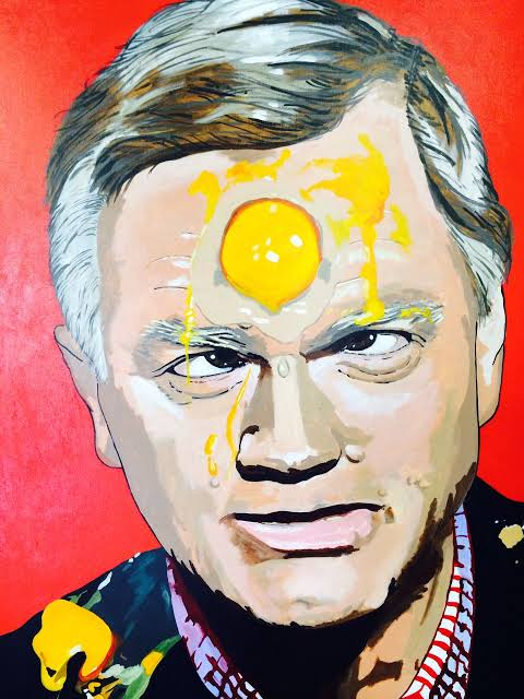 Image result for Andrew Bolt with egg on his face