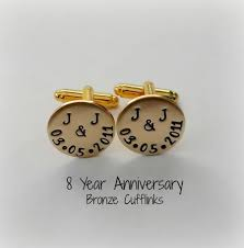 bronze wedding anniversary cufflinks