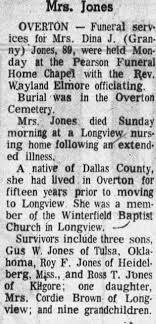 Dina West Jones obituary - Newspapers.com