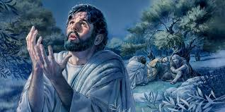 prays in the garden of gethsemane