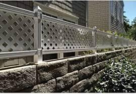 Outdoor Essentials Picketlock Yorktown 4x8 White Vinyl Fence Panel