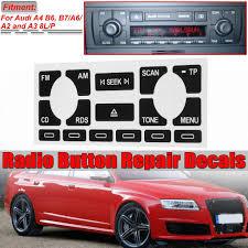 1 2set Car Radio Stereo Worn Peeling Button Repair Stickers For Audi A4 B6 B7 A6 A2 A3 8l P Tp Buy At A Low Prices On Joom E Commerce Platform