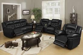 black leather living room furniture